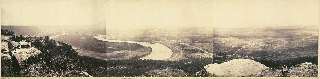 this one taken by George Barnard from the top of Lookout Mountain in Tennessee (1864)