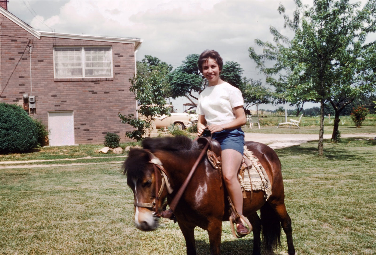 With my pony in the early 60s