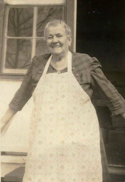 Memory of Grandmother Wearing Her Apron