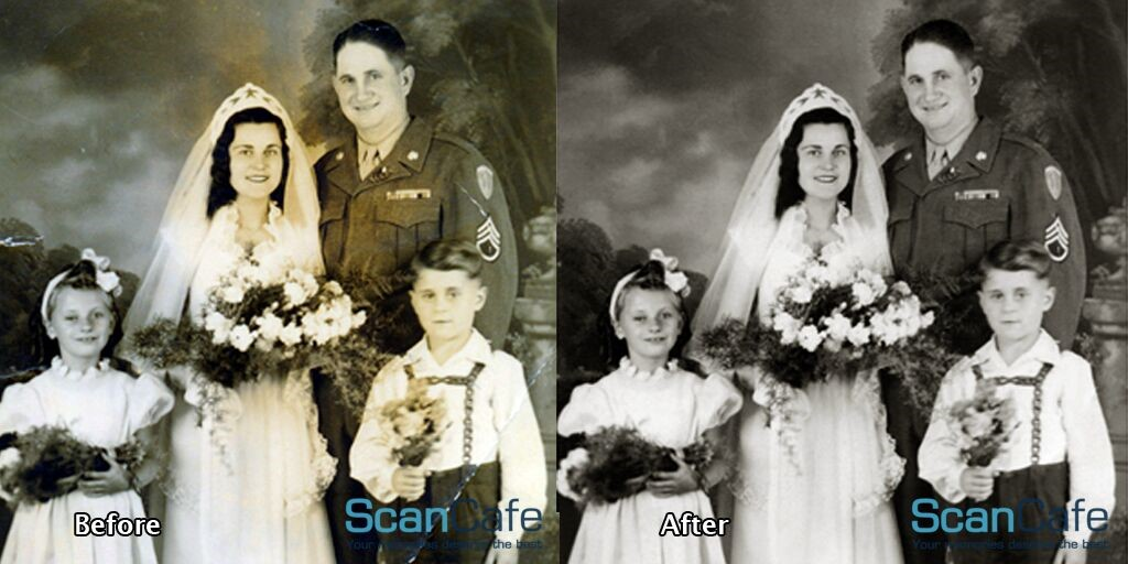 Fading and Color Casts - Photo Restoration by ScanCafe