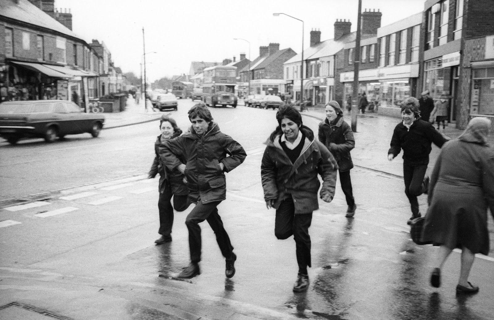 Five Boys Running - Original