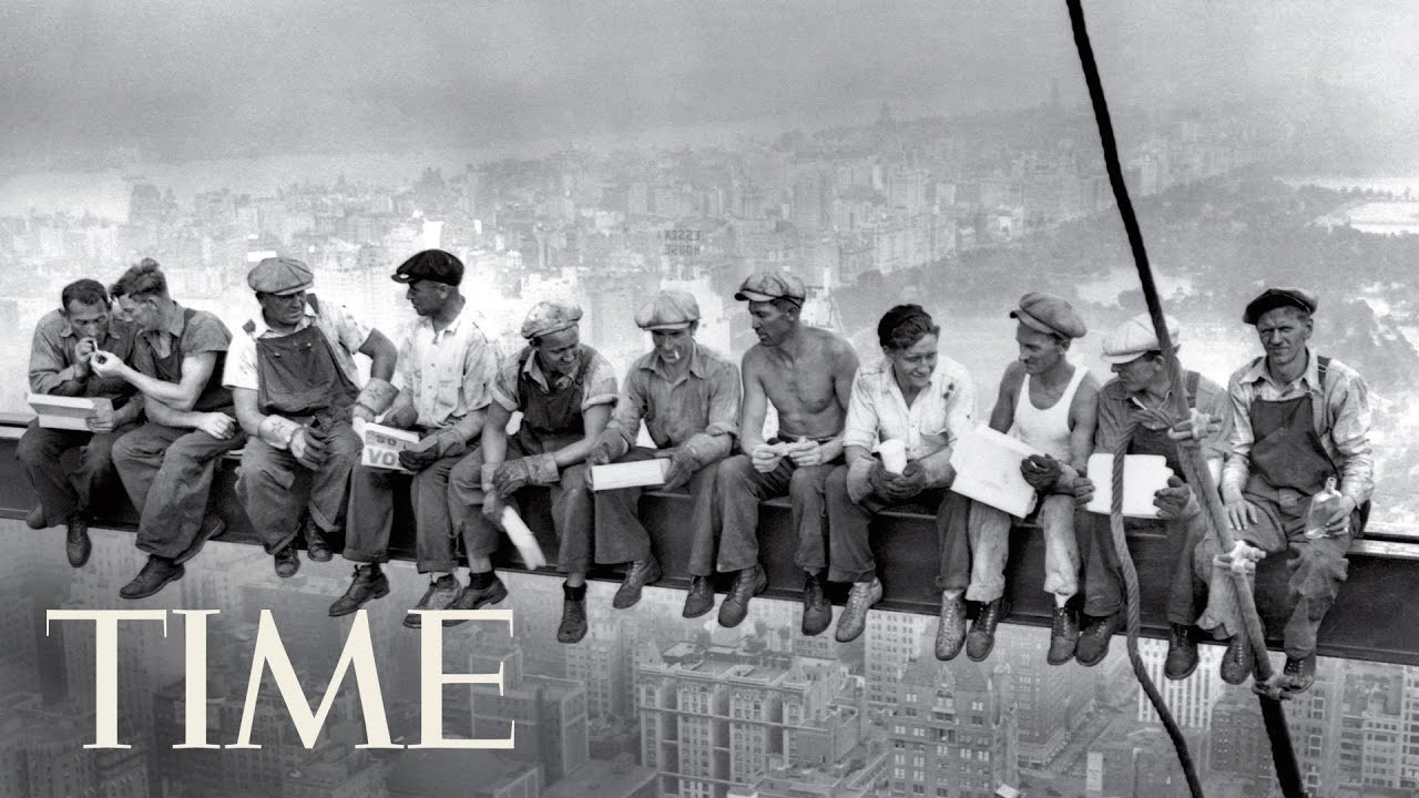 Lunch atop a skyscraper (1932) - an iconic pic of workers who built the Rockefeller Center