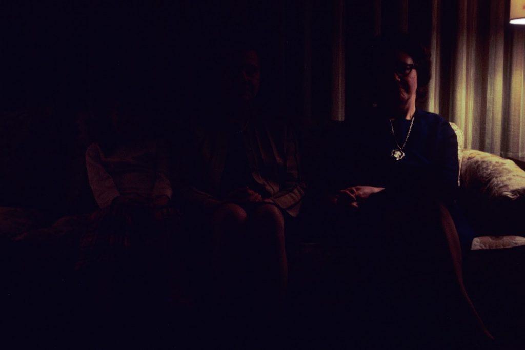 Three women in the dark
