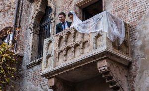 A couple in Verona, Italy