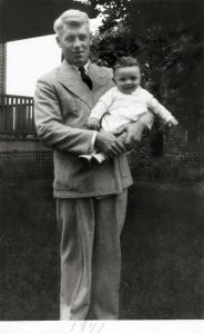 Bob with his father, Charles Ehinger, in the summer of 1941