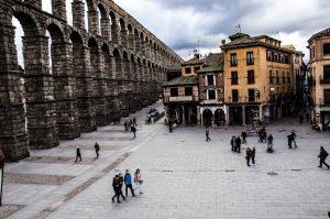 The aqueduct in Segovia, Spain