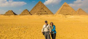 Tom and Kristin in Giza, Egypt