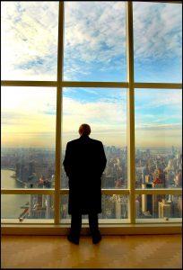 Trump surveys his world