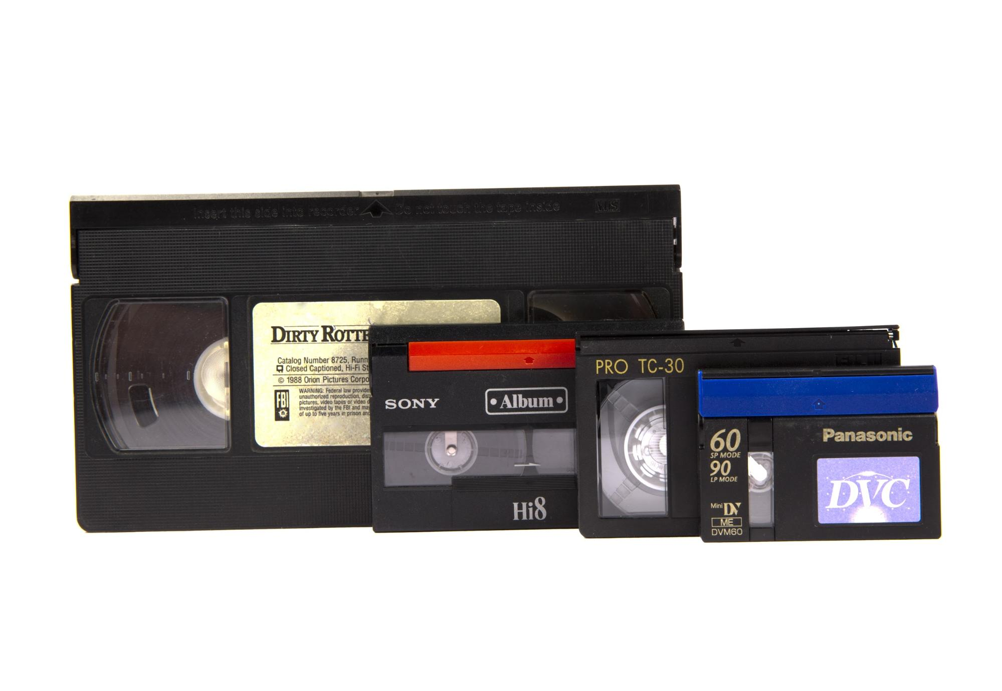 Types of VHS tapes
