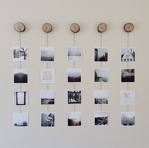 Print, string, paste – Some offbeat and easy photo display ideas.